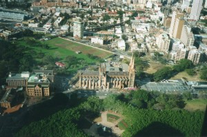 SydneyCathedralfromabove